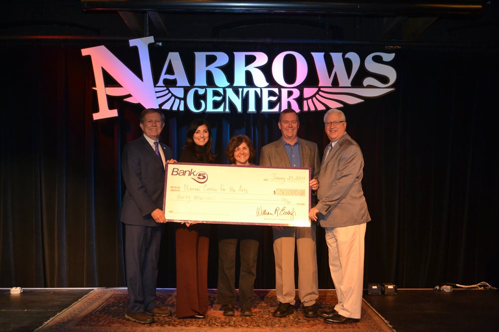 Check presentation at the Narrows Center for the Arts