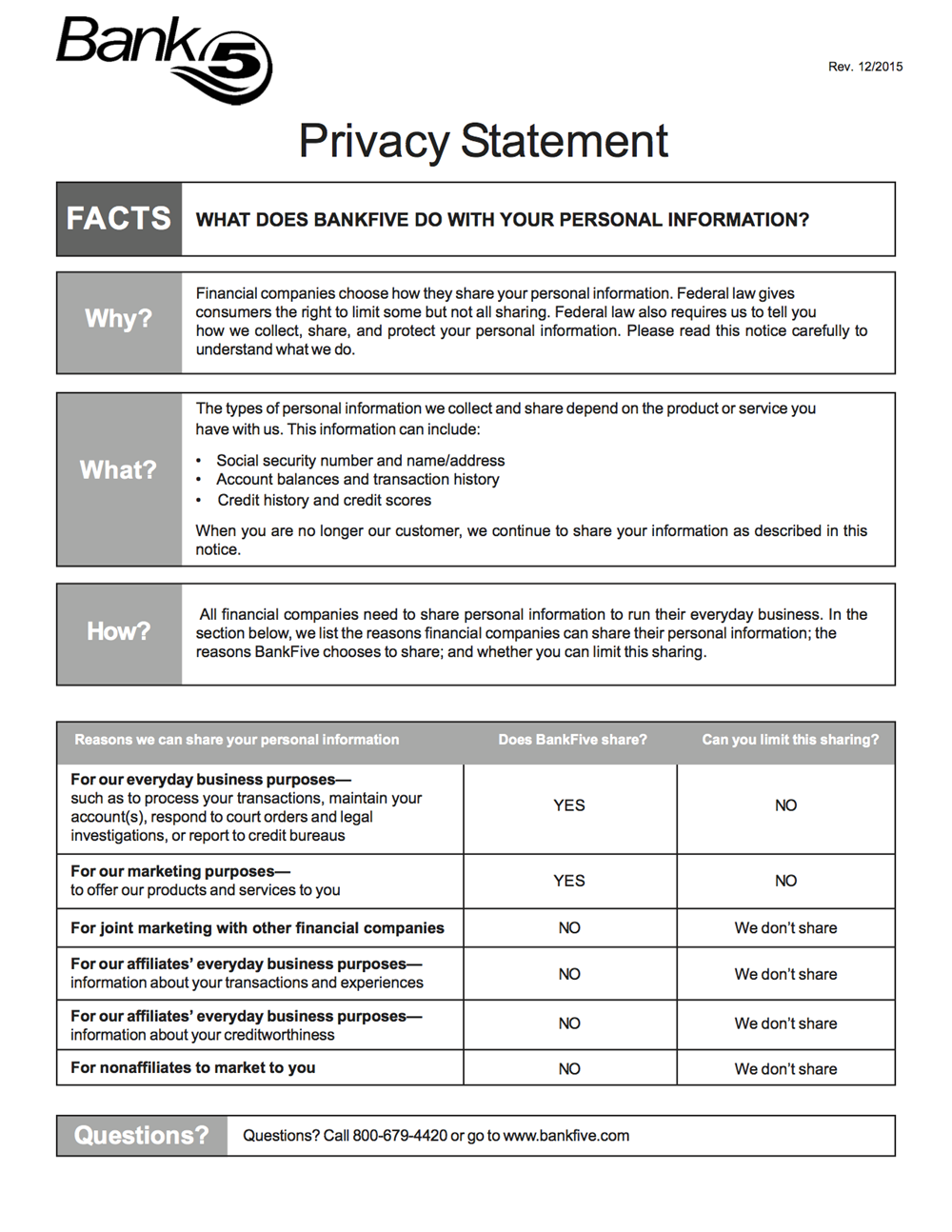Privacy Statement PDF